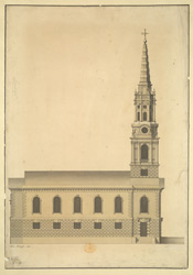 Section of St Giles in the Fields